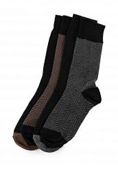 Купить Комплект носков 4 пары Burton Menswear London коричневый, серый, черный BU014FMQTE38