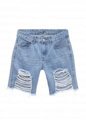 Купить Шорты джинсовые By Swan голубой BY004EWTLP35