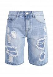 Купить Шорты джинсовые By Swan голубой BY004EWTLP36
