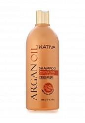 Купить Шампунь Увлажняющий с маслом Арганы 500 мл Kativa KA009LUASG32