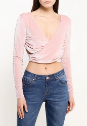 Блуза LOST INKSHERBERT PINK VELVET CUT OUT CROP