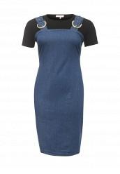 Купить Платье джинсовое 2 IN 1 DENIM PINAFORE DRESS LOST INK PLUS синий LO035EWRWB33