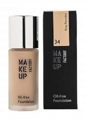 Купить Тональный крем Матовый для нормальной и жирной кожи Oil-free Foundation тон 34 розовый фарфор Make Up Factory MA120LWHDS25