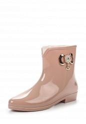 Купить Резиновые полусапоги Mon Ami розовый, бежевый MO151AWMLF44