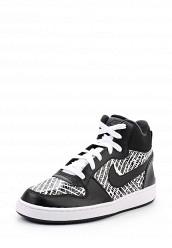 Купить Кеды NIKE COURT BOROUGH MID PRNT GS Nike черный NI464ABUFH03