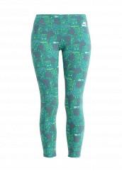 Купить Леггинсы NIKE LEG-A-SEE-CROPPED AOP Nike зеленый NI464EWHBN06