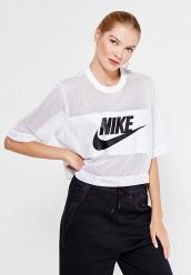 Купить Футболка W NSW TOP CROP MESH Nike белый NI464EWRZB50