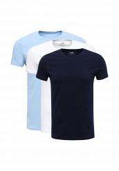 Купить Комплект футболок 3 шт. oodji белый, голубой, синий OO001EMUTX31