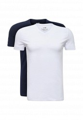Купить Комплект футболок 2 шт. oodji белый, синий OO001EMUTX35