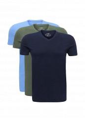 Купить Комплект футболок 3 шт. oodji голубой, зеленый, синий OO001EMUTX38