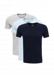 Купить Комплект футболок 3 шт. oodji голубой, серый, синий OO001EMUTX40