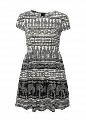 Купить Платье oodji черно-белый OO001EWIGJ26 Китай