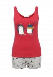 Купить Пижама oodji красный, серый OO001EWPCU23