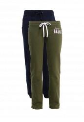 Купить Комплект брюк 2 шт. oodji зеленый, синий OO001EWSZS92