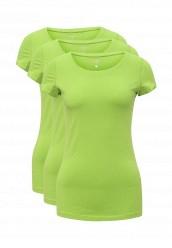 Купить Комплект футболок 3 шт. oodji зеленый OO001EWUPG33