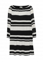 Купить Платье пляжное Twin-Set Simona Barbieri черно-белый TW005EWQOJ77 Китай