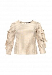 Купить Блуза - PEPO Violeta by Mango бежевый VI005EWRAA60