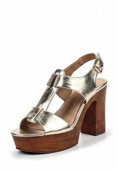 Босоножки, Alesya, цвет: золотой. Артикул: AL048AWQEJ64. Женская обувь / Босоножки