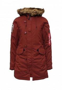 Парка, Alpha Industries, цвет: красный. Артикул: AL507EWNHI49. Женская одежда / Верхняя одежда / Парки