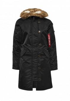 Парка, Alpha Industries, цвет: черный. Артикул: AL507EWNHI56. Женская одежда / Верхняя одежда / Парки