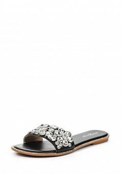 Шлепанцы, Amazonga, цвет: черный. Артикул: AM338AWQLB62. Женская обувь / Шлепанцы и акваобувь