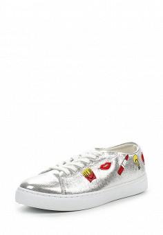 Кеды, Angelo Milano, цвет: серебряный. Артикул: AN053AWPSU71. Женская обувь