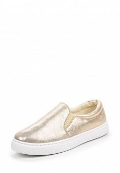 Слипоны, Angelo Milano, цвет: золотой. Артикул: AN053AWQQA18. Женская обувь