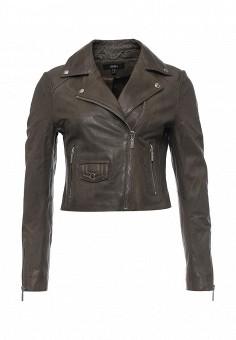 Куртка кожаная, Arma, цвет: хаки. Артикул: AR020EWQOF34. Женская одежда / Верхняя одежда / Косухи