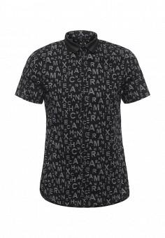Рубашка, Armani Exchange, цвет: черный. Артикул: AR037EMPWT35. Мужская одежда / Рубашки