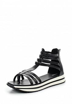 Сандалии, Armani Jeans, цвет: черный. Артикул: AR411AWPWC91. Премиум / Обувь / Сандалии