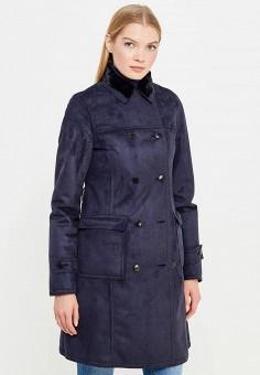 Дубленка, Armani Jeans, цвет: синий. Артикул: AR411EWTYA29. Женская одежда / Верхняя одежда / Шубы и дубленки