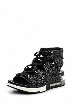 Сандалии, Ash, цвет: черный. Артикул: AS069AWQQY63. Премиум / Обувь / Сандалии
