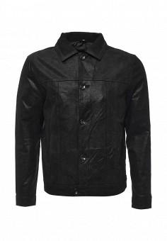 Куртка кожаная, Bata, цвет: черный. Артикул: BA060EMKWY18. Мужская одежда / Верхняя одежда / Кожаные куртки