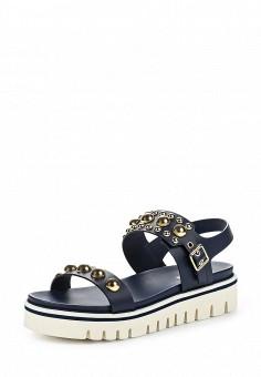 Сандалии, Baldinini, цвет: синий. Артикул: BA097AWPUX72. Женская обувь