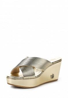 Сабо, Baldinini, цвет: золотой. Артикул: BA097AWPUX84. Женская обувь