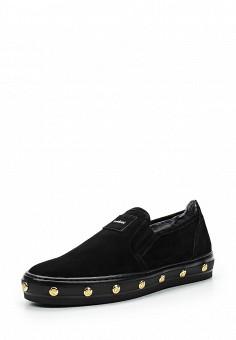Слипоны, Baldinini, цвет: черный. Артикул: BA097AWTCB30. Женская обувь