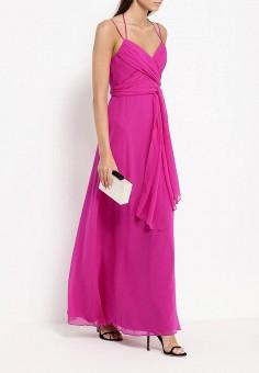 Платье, BCBGMAXAZRIA, цвет: фуксия. Артикул: BC529EWJAV91. Премиум / Одежда / Платья и сарафаны