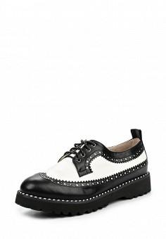 Ботинки, Betsy, цвет: черно-белый. Артикул: BE006AWQBU84. Женская обувь / Ботинки / Низкие ботинки
