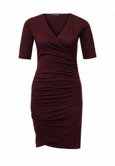 Платья серо бордовые женские