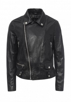 Куртка кожаная, Blouson, цвет: черный. Артикул: BL033EWQGN34. Премиум