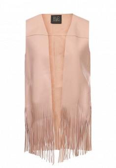 Жилет кожаный, Blouson, цвет: розовый. Артикул: BL033EWQXG62. Премиум