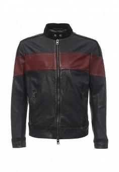 Куртка кожаная, Boss Orange, цвет: черный. Артикул: BO456EMNOM99. Мужская одежда / Верхняя одежда / Кожаные куртки