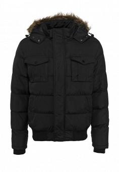 Куртка утепленная, Brave Soul, цвет: черный. Артикул: BR019EMDFU03. Мужская одежда / Верхняя одежда