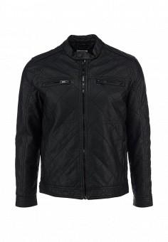 Куртка кожаная, Brave Soul, цвет: черный. Артикул: BR019EMDFU13. Мужская одежда / Верхняя одежда