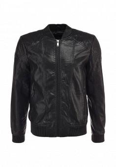 Куртка кожаная, Brave Soul, цвет: черный. Артикул: BR019EMFZU72. Мужская одежда / Верхняя одежда