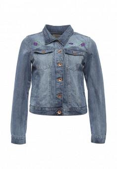 Куртка джинсовая, Brave Soul, цвет: голубой. Артикул: BR019EWSAF56. Женская одежда / Тренды сезона / Летний деним / Джинсовые куртки