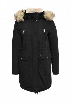 Парка, B.Style, цвет: черный. Артикул: BS002EWMMT73. Женская одежда / Верхняя одежда / Парки