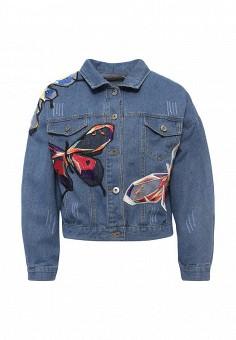 Куртка джинсовая, By Swan, цвет: синий. Артикул: BY004EWRPM66. Женская одежда / Тренды сезона / Летний деним / Джинсовые куртки