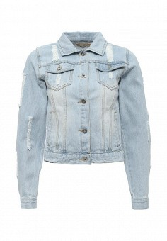 Куртка джинсовая, By Swan, цвет: голубой. Артикул: BY004EWRPM67. Женская одежда / Тренды сезона / Летний деним / Джинсовые куртки