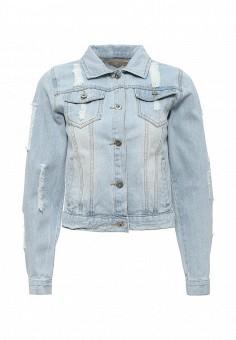 Куртка джинсовая, By Swan, цвет: голубой. Артикул: BY004EWRPM67. Женская одежда / Верхняя одежда / Джинсовые куртки